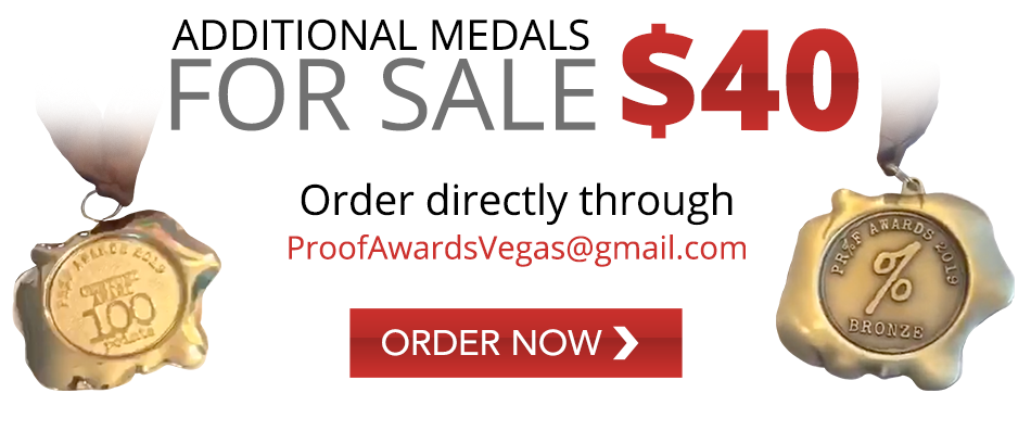 Additional Medals for sale - $40 - Order directly through ProofAwardsVegas@gmail.com - Order Now